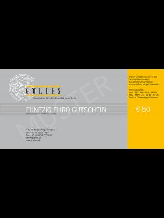 Gutschein Gölles, 50 Euro