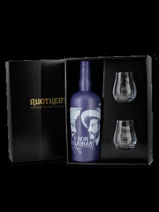 """Ruotkers """"Ron Johan Old Plum Rum + Gläser"""""""